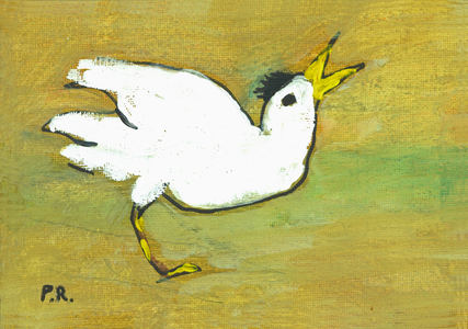 Patricia Rockwood 2016: Little Florida Birds Ink and gouache on board