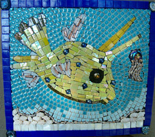 Patricia Rockwood Mosaics: Panels Mixed media on board