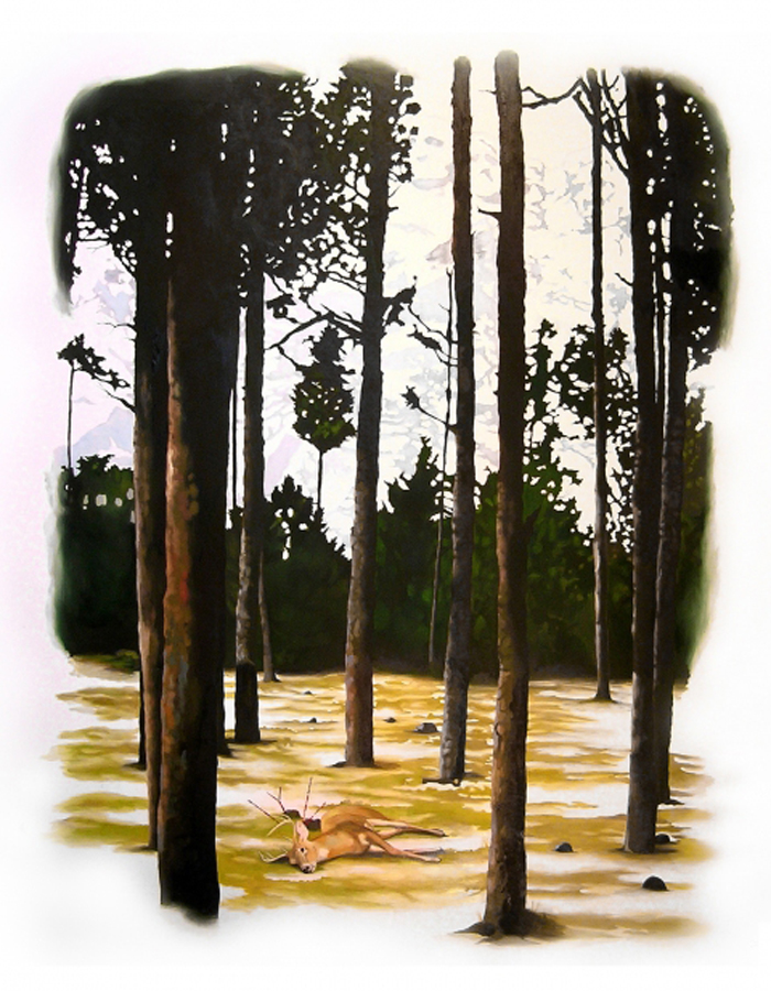 Patte Loper Let Our Beauty Ease Your Grief / A New Way North 2006-2007 acrylic and oil on paper