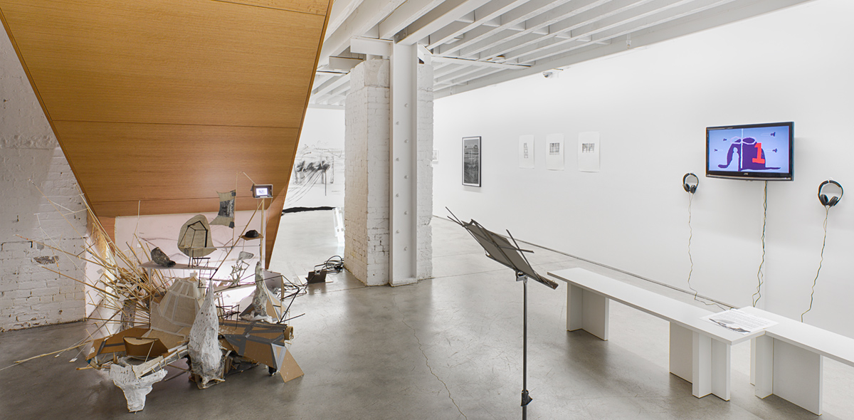 2014 - 2015 After Lebbeus: A Model For Drawing  Exhibition Shot, Open Sessions 2, The Lab, The Drawing Center