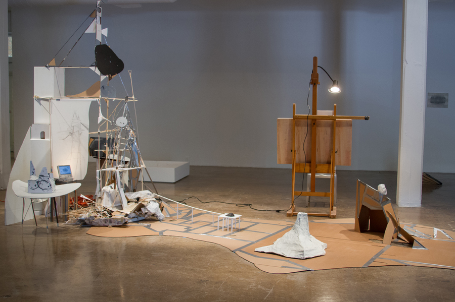 2014 - 2015 After Lebbeus: A Model For Drawing  After Lebbeus: A Model For Drawing, installation shot, Blue Star Contemporary Art Museum