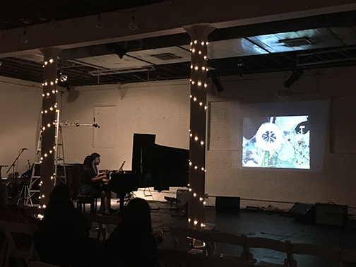 "2018 Video Performance Collaboration with Piano Duo 2Squared 2 Squared performance of Pupazetti accompanied by ""Good News from Outer Space"""