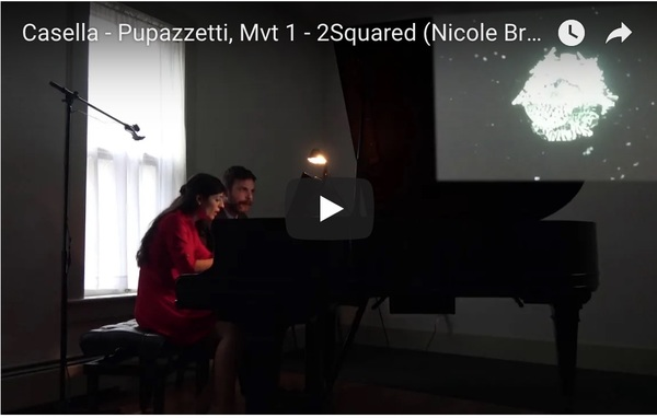 2018 Video Performance Collaboration with Piano Duo 2Squared 2 Squared Piano Duo performing Alfredo Casella's Pupazetti