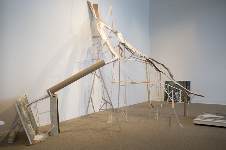 Patte Loper Sculpture and Installation Cardboard, found material, wood, plastic, paint, oil on canvas