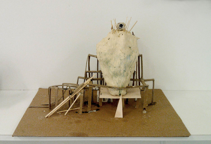 Patte Loper Sculpture and Installation Putty, cardboard, found material