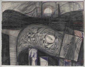 Paul Brainard Drawings pen pencil and collaged drawing