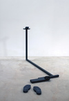 Paul O'Keeffe  cast bronze and steel with black patina<br/>