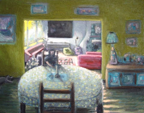 Peter e Harper Rooms In A House Oil On Canvas