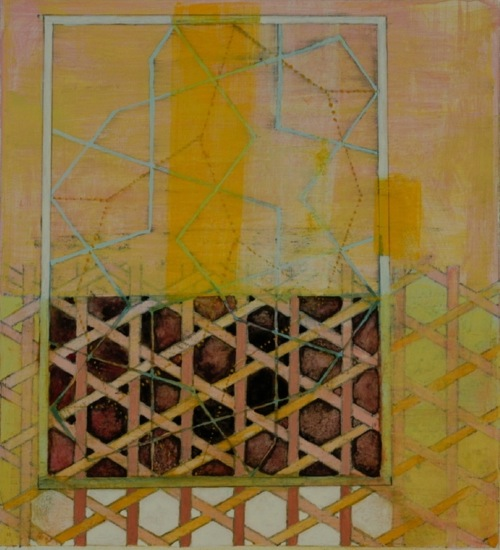 Penelope Jones Small Geometries casein on paper