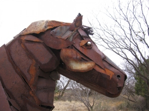 Penelope Bisbee The Jim Bob Art Park & Nature Trails Found metal