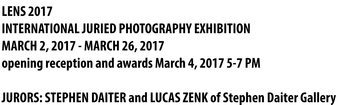 Perspective Group and Photography Gallery March Featured Artists:  LENS 2017