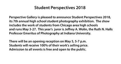 Perspective Group and Photography Gallery Student Perspectives 2018