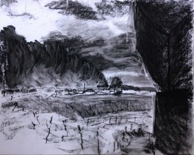 Andoya Space Center- Norway 2015 charcoal on paper