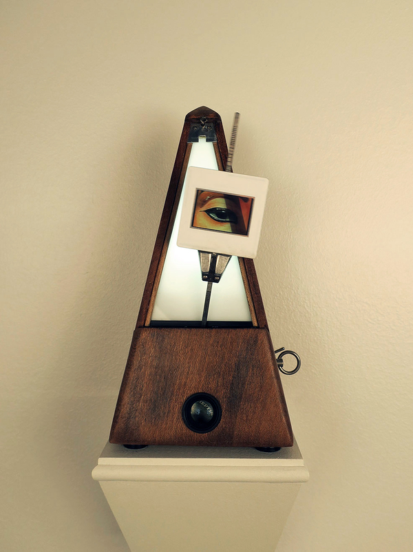 Peter Eudenbach Sculpture Metronome, 35mm slide, mixed media