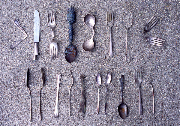 Peter Eudenbach At the Threshold of Fiction Modified flatware