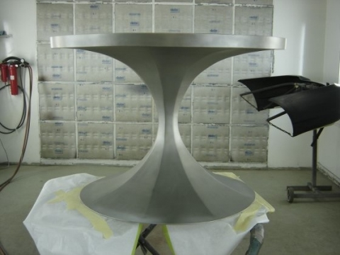 Design & Fabrication Stainless table base
