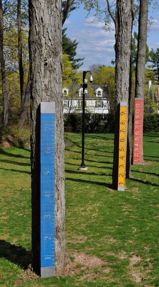 Installations Four Colorful Rules, Connecticut Governor's residence sculpture garden exhibition 2013-14