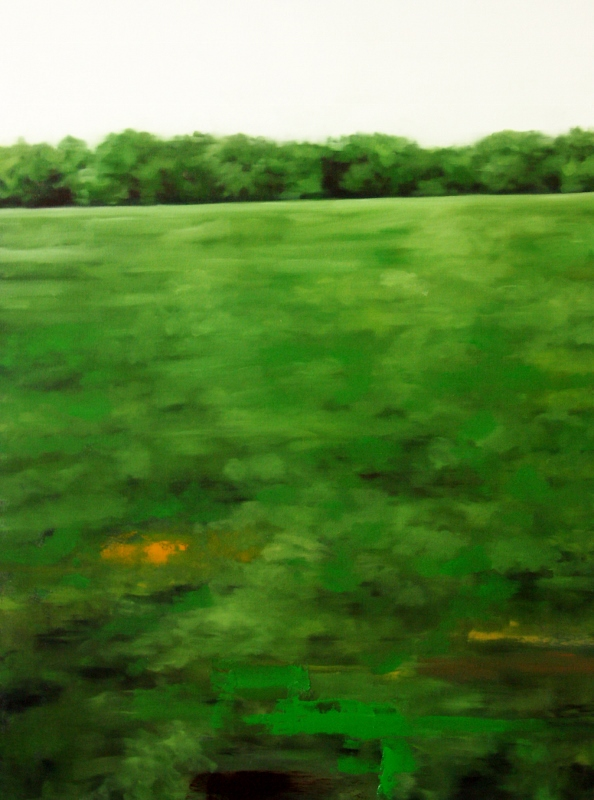 Peter Roux landscape oil on canvas