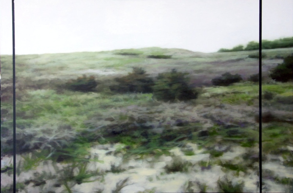 Peter Roux landscape oil on panel