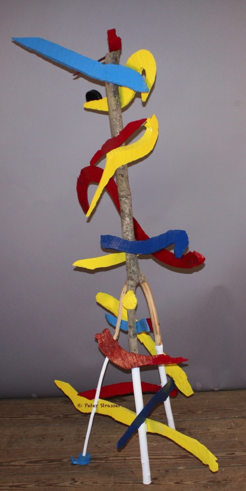 Assembled Sculptures Blue foot (View 3)