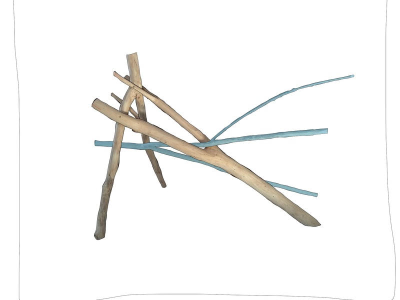 Drawing ideas for sculpture Colored branches 2