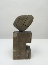 Peter Strasser Small Sculptures Stone, Wood & Paint