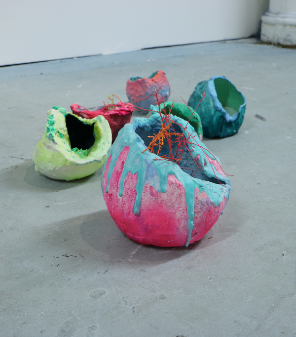 PHAAN HOWNG // INFILTRATIONS Plaster, paint, colored sand, and bits of tumbleweed