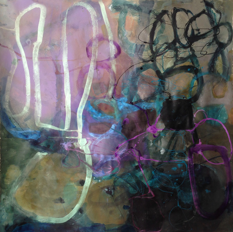TRACEY PHYSIOC BROCKETT  Haints and Dark Horses, 2015-2017 acrylic, ink, marker and spray paint on paper