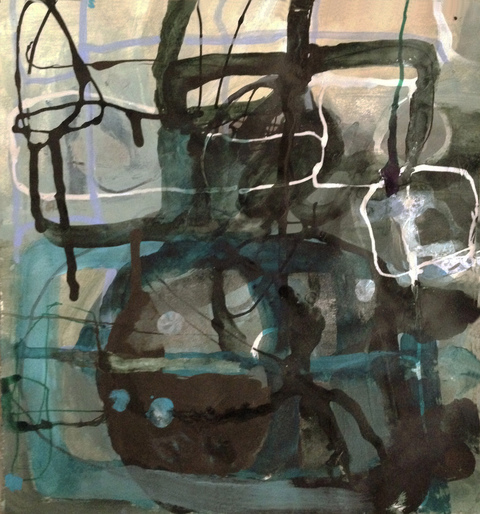 TRACEY PHYSIOC BROCKETT  Haints and Dark Horses, 2015-2017 ink, marker and acrylic on paper