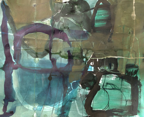 TRACEY PHYSIOC BROCKETT  Haints and Dark Horses, 2015-2017 acrylic, ink and marker on paper