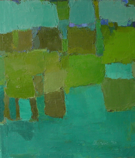 oil on canvas 1984-2005 Hedge 2