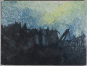 Priscilla Derven Paintings 2011-2012 oil/encaustic on wood panel