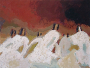 Priscilla Derven Paintings 2004 encaustic on panel