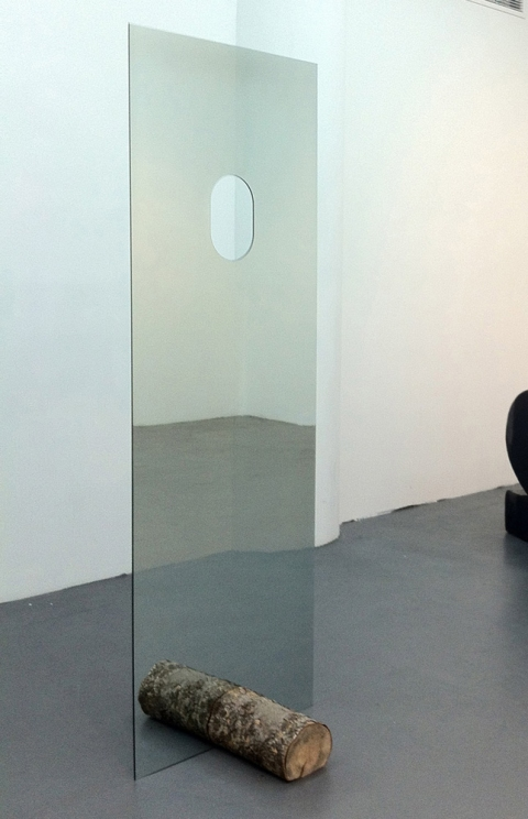 Lucas Michael Between You And I A Silence Two-way mirror and wood