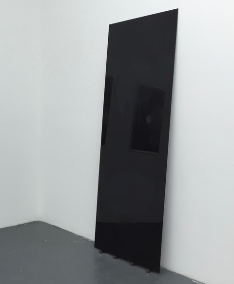 Lucas Michael Between You And I A Silence Black mirror, resin and rubber doorstops