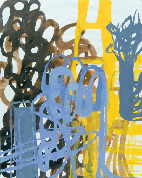 Ken Wood Paintings 1998-2009 Acrylic Ink and Gouache on Typewriter Paper