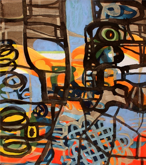 Ken Wood Paintings 1998-2009 Acrylic Ink and Gouache on Paper