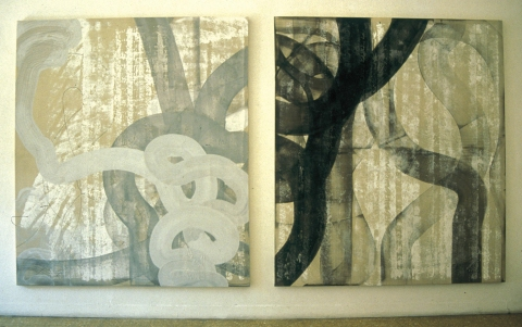 Ken Wood Paintings 1998-2009 Ink and Paint on Canvas