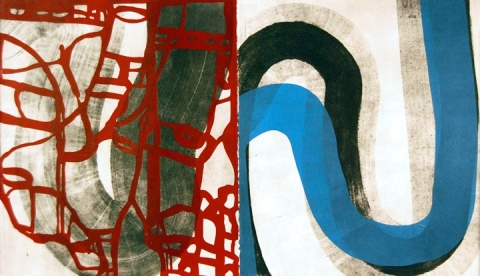 Ken Wood Strata 2010-14 Collagraph and relief print