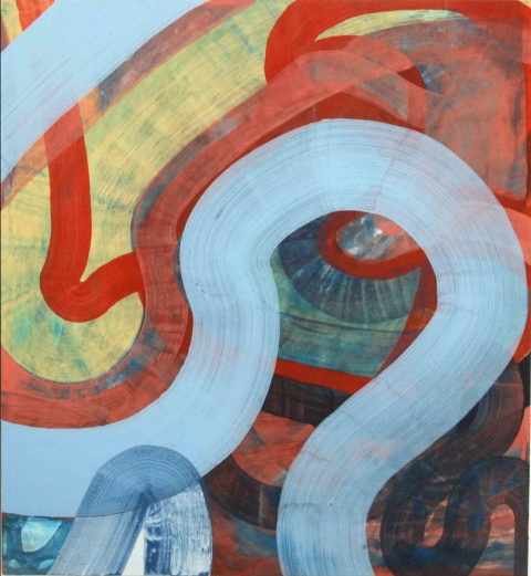 Ken Wood Paintings 1998-2009 Acrylic Ink and Gouache on Wood