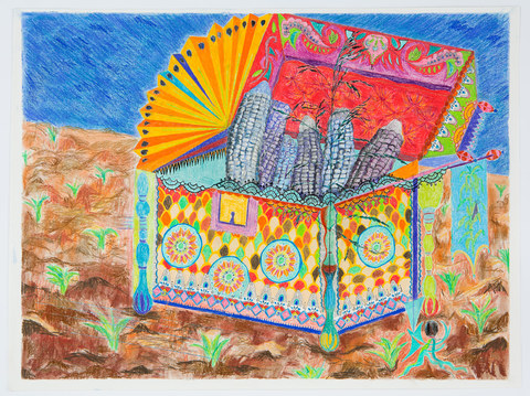 Rachel Breen Historic Treasure Colored pencil, ink and soft pastel on paper