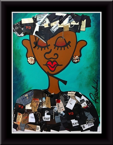 "Acrylic ""Miss Pursuit of Happiness II"""