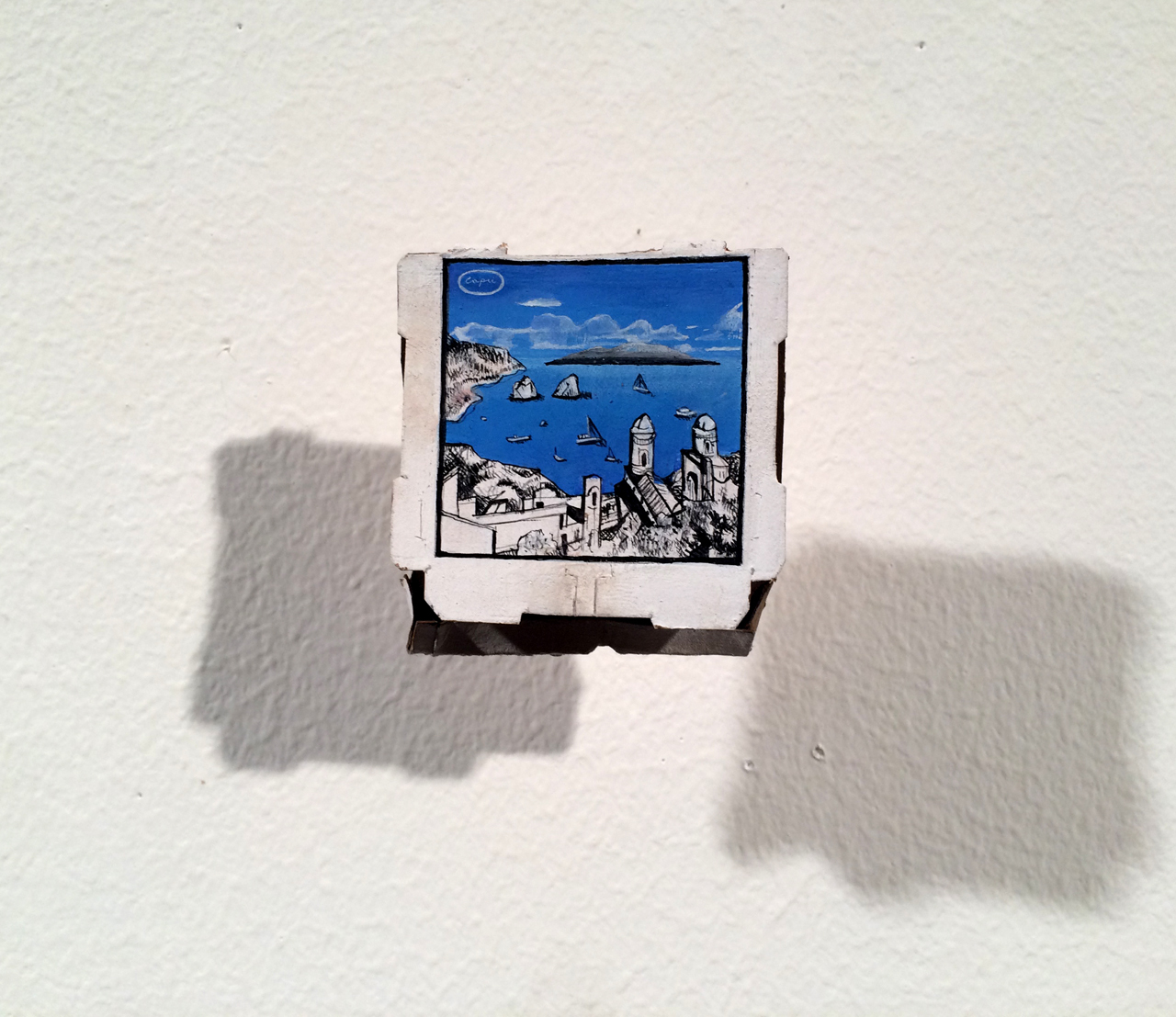 RACHEL GROBSTEIN Miniature Sculpture gouache on cut paper