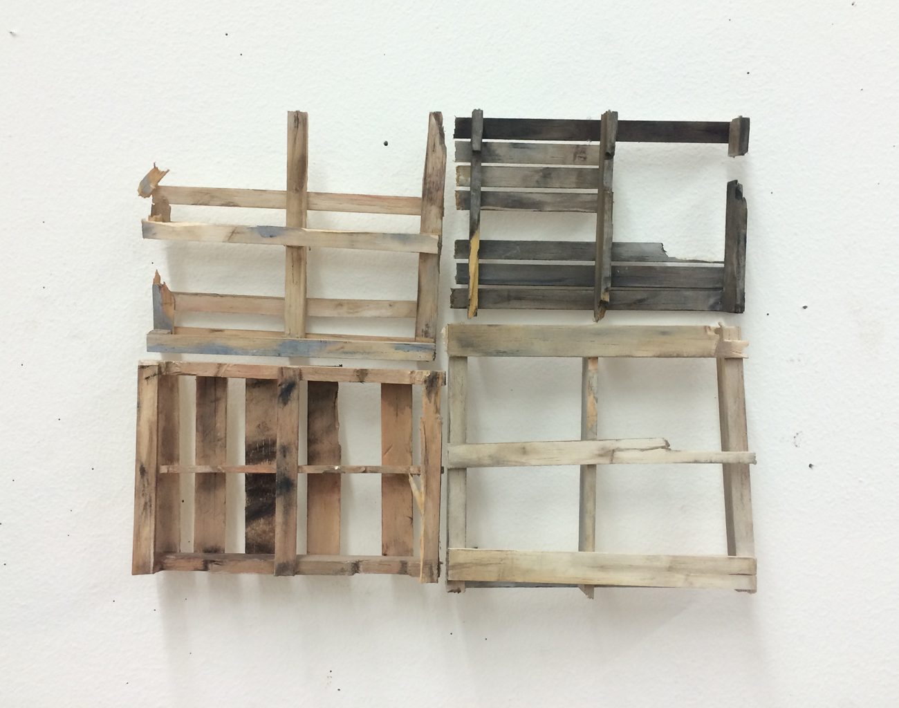RACHEL GROBSTEIN Miniature Sculpture gouache on balsa wood