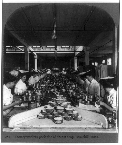 Obeast Soap Manufacturing, circa 1915