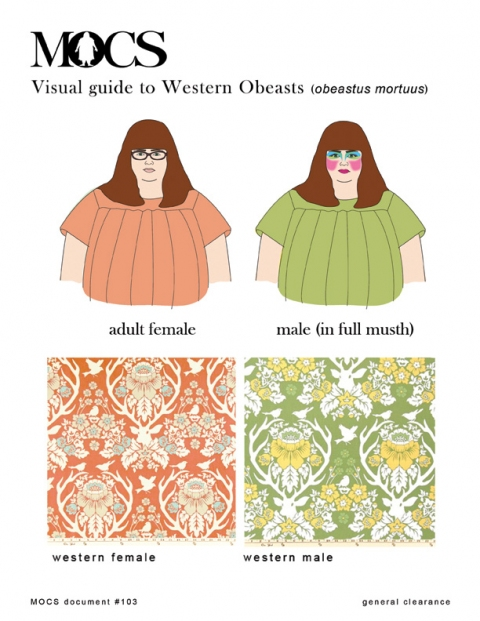 MOCS drawings + design MOCS Visual Guide to Western Obeasts