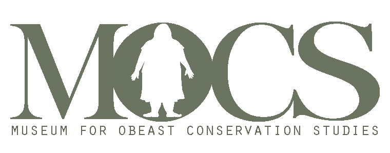 MOCS drawings + design Museum for Obeast Conservation Studies logo