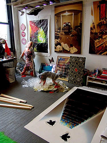 RACHEL RAMPLEMAN Former studio in the East Village, NYC