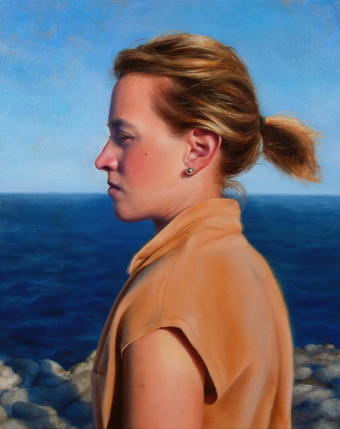 RACHEL SARD Portraits oil on canvas