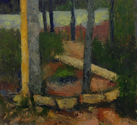 Rachel Sevanich Maine Paintings  oil on board